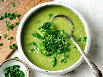 Image forPressure Cooker Creamy Vegan Broccoli Soup