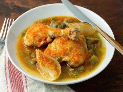 Image forPressure Cooker Pollo Con Nopales Para Dieta Cetogénica (Keto Chicken with Cactus)