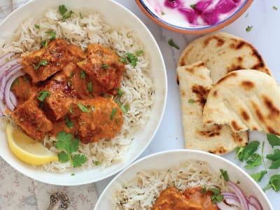 Image forPressure Cooker Chicken Tikka Masala with Rice