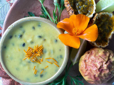 Image forMaracuya Coconut Lime Curd