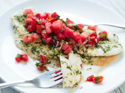 Image for Pan-Fried Fish with Watermelon Salsa