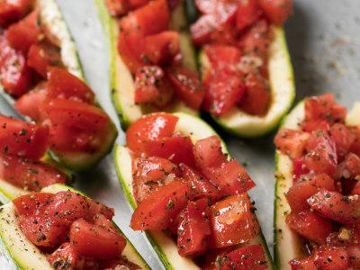 Image for Mozzarella-Stuffed Zucchini
