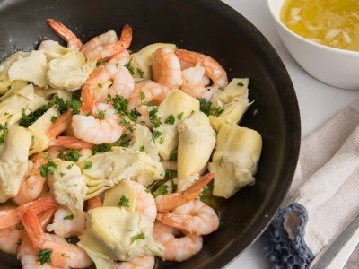 Image for Lemony Shrimp and Artichoke Pasta Toss