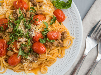 Image for One-Pot Spaghetti with Beefy Tomato Sauce