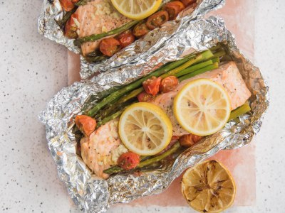 Image for Grilled Salmon and Asparagus Foil Packets