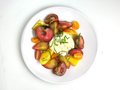 Image for Stone Fruit-and-Burrata Caprese Salad