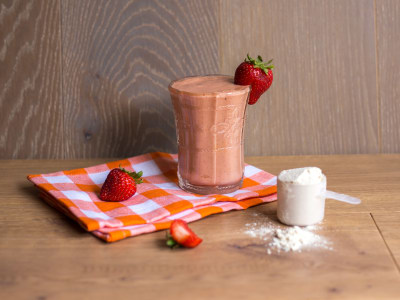 Image for Peach Strawberry Protein Smoothie