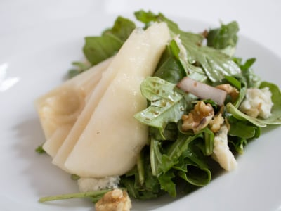 Image for Pear Salad with Goat Cheese and Walnuts