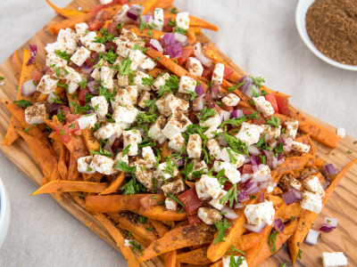 Image for Oven Baked Feta Cheese Sweet Potato Fries