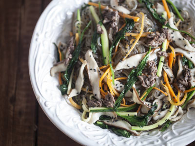 Image for Korean Japchae (Stir-Fried Vermicelli with Vegetables)