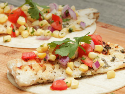 Image for Grilled Fish Tacos with Corn Salsa