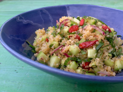 Image for Tabouleh with Cucumber, Mint, and Goji Berries