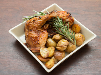 Image for Roast Chicken with Za'atar Rosemary Potatoes
