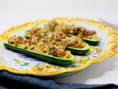 Image for Chicken Sausage Stuffed Zucchini