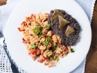 Image for Huevos a la Mexicana con Frijoles (Mexican Eggs with Beans)
