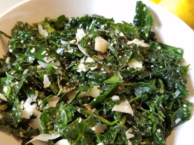 Image for Quick Kale Salad with Truffle Oil and Parmesan Cheese