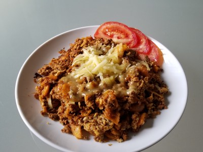 Image for Chilaquiles with Turkey Chorizo