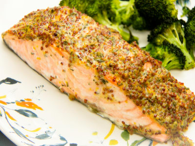 Image for One-Pan Rosemary Salmon with Broccoli