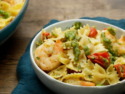 Image for One-Pot Shrimp Pesto Pasta