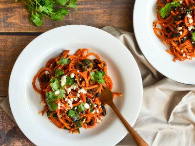 Image for Spiralized Sweet Potato, Black Bean, and Kale Enchilada Bowls