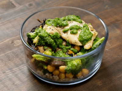 Image for Meal Prep: Portobello and Chicken Pesto Bowls