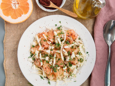 Image for Grapefruit and Fennel Salad with Sumac Lemon Dressing