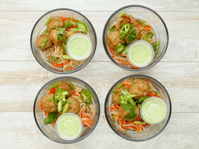 Image for Meal Prep: Asian Meatball Bowls
