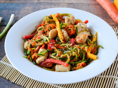 Image for Spiralized Zucchini Chow Mein with Chicken