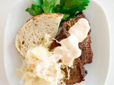 Image for 3-Hour Beef Brisket with Homemade Russian Sauce