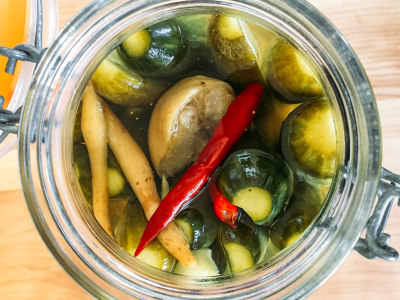 Image for Curry-Spiced Pickles with Galangal and Preserved Lemon