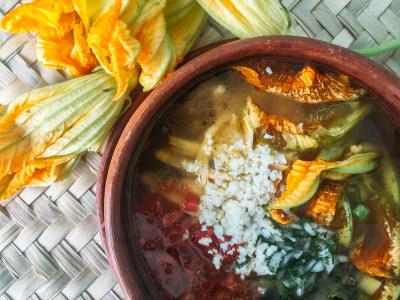 Image for Squash Blossom Soup