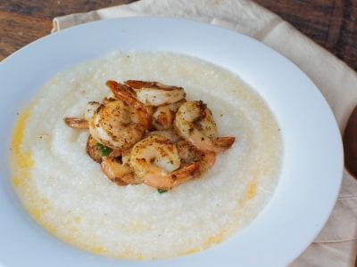 Image for Lemon-Garlic Shrimp and Grits