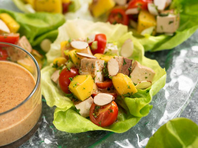 Image for Thai Mango-Tofu Salad Cups