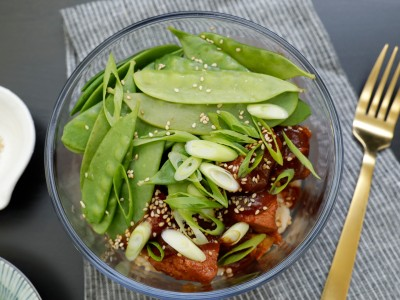 Image for Meal Prep: Pressure Cooker Honey-Garlic Chicken and Snow Peas