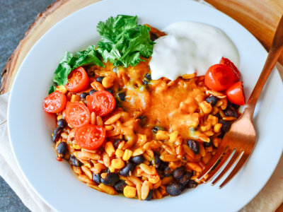 Image for One Pot Enchilada Orzo Pasta