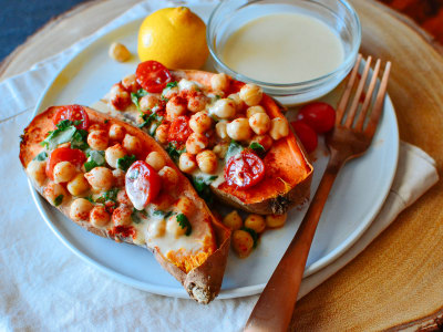 Image for Mediterranean Baked Sweet Potatoes