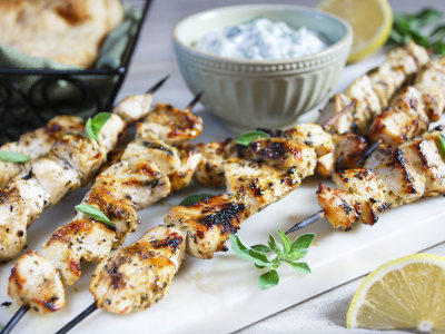 Image for Chicken Souvlaki with Tzatziki Sauce