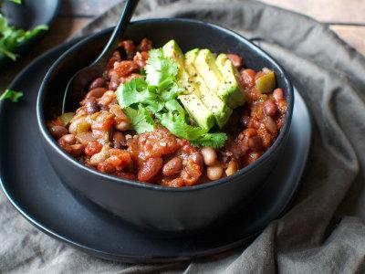Image for Pressure Cooker Three-Bean Vegan Chili