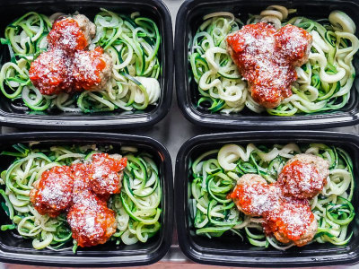 Image for Meal Prep: Turkey Meatballs and Zoodles