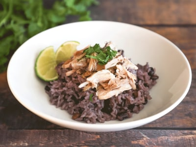 Image for Pressure Cooker Shredded Chicken with Black Beans and Rice