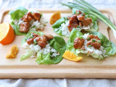 Image for Pressure Cooker Orange Chicken Lettuce Wraps
