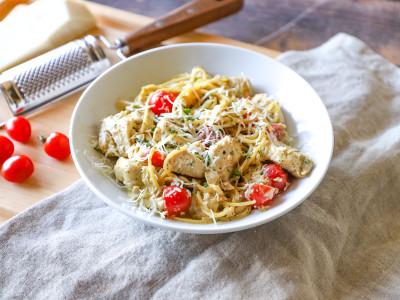 Image for Pressure Cooker Creamy Chicken Pesto Pasta