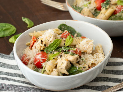 Image for Pressure Cooker Creamy Chicken Pesto Pasta