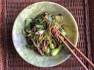 Image for Cold Soba Noodles with Baby Bok Choy and Shiitakes