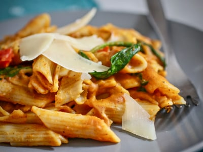 Image for Pressure Cooker Spicy Pumpkin Pasta