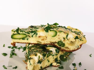 Image for Herby Asparagus and Goat Cheese Frittata