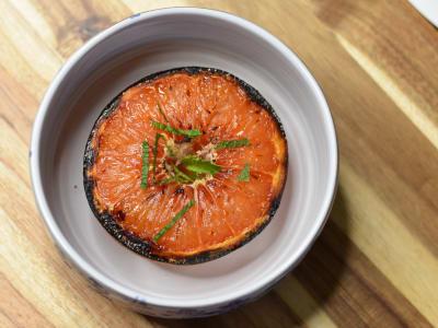 Image for Caramelized Honeyed Grapefruit with Mint