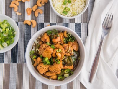 Image for Cashew Chicken with Cauliflower Rice