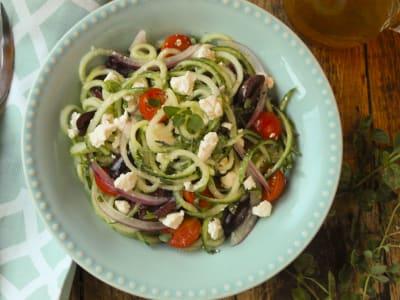 Image for Spiralized Greek Cucumber Salad