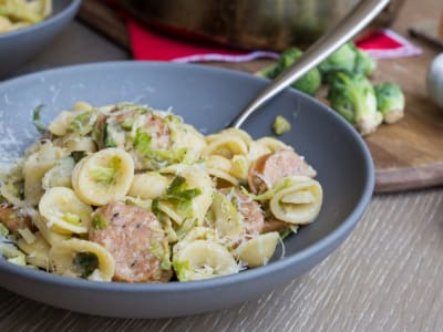 Image for Orecchiette with Brussels Sprouts and Chicken Sausage